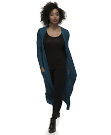 YALA Brooke Duster Style Viscose from Bamboo Lightweight Long Knit Cardigan