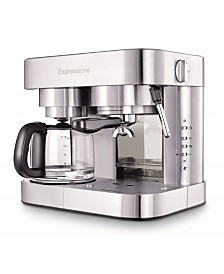 Espressione Combination Espresso Machine & 10-Cup Drip Coffeemaker