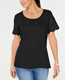 Embroidered Cotton T-Shirt, Created for Macy's