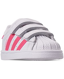 adidas Toddler Girls' Originals Superstar Casual Sneakers from Finish Line