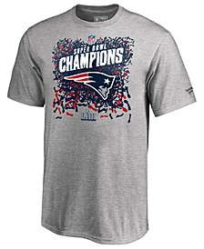 Men's New England Patriots Champ Official Locker Room Trophy T-Shirt