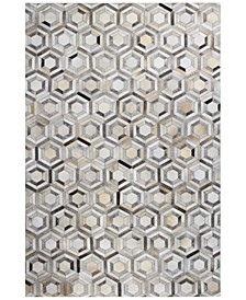 CLOSEOUT!  Cowhide HID-14 Grey 5' x 8' Area Rug