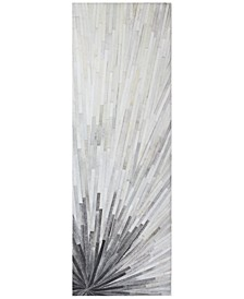 "Cowhide HID-22 Grey 2'6"" x 8' Runner Area Rug"