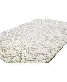 "BB Rugs Elements ELM-220 White 2'6"" x 8' Runner Area Rug"