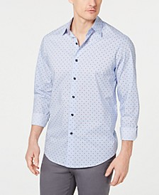 Men's Stretch Foulard Printed Shirt, Created for Macy's