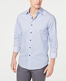 Tasso Elba Men's Stretch Foulard Printed Shirt, Created for Macy's