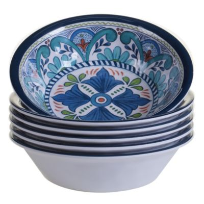 Talavera 6-Pc. Melamine All Purpose Bowl