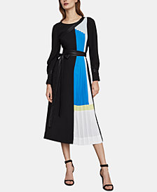 BCBGMAXAZRIA Colorblocked Midi Dress