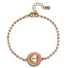 Capwell & Co. Locket Crystal Bracelet