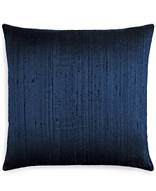 "Jetrich Canada Dupioni Navy 20"" x 20"" Decorative Pillow"