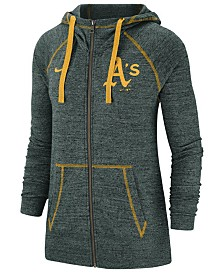 Nike Women's Oakland Athletics Gym Vintage Full-Zip Hooded Sweatshirt