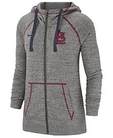 Nike Women's St. Louis Cardinals Gym Vintage Full-Zip Hooded Sweatshirt