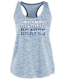 5th & Ocean Women's Atlanta Braves Space Dye Back Logo Tank