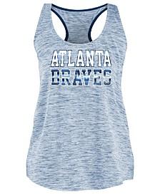 5th & Ocean Women's Atlanta Braves Space Dye Back Logo Tank