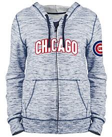 5th & Ocean Women's Chicago Cubs Space Dye Hoodie