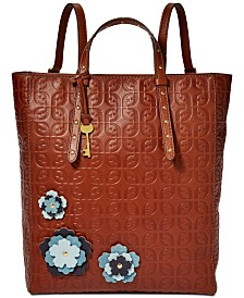 Fossil Camilla Flowers Convertible Backpack