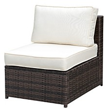 Aluminum Frame Patio Side Chair with Cushioned Seating