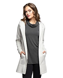 YALA Jemma Zip-up Long Sleeve Organic Cotton and Viscose from Bamboo Hooded Sweatshirt