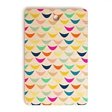 Deny Designs Hello Sayang Rainbow Fish Rectangle Cutting Board