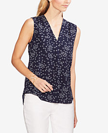 Vince Camuto Floral-Print Sleeveless Top