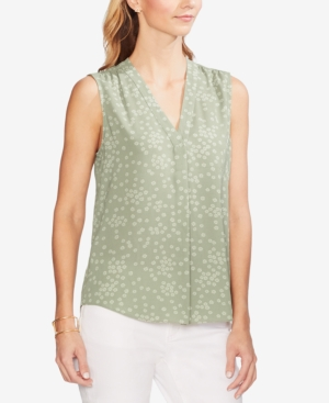 Vince Camuto Tops FLORAL-PRINT SLEEVELESS TOP
