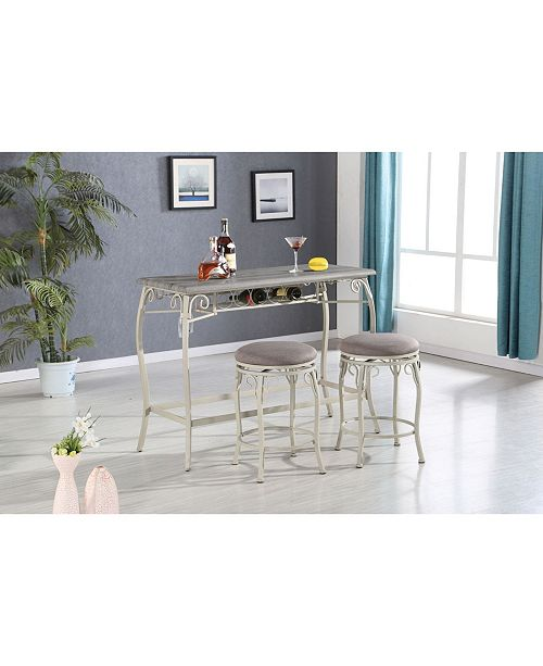 Acme Furniture Irmeda 3-Piece Counter Height Set