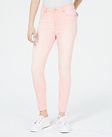Celebrity Pink Juniors' Light Wash Skinny Ankle Jeans