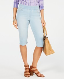 Style & Co Avery Pull-On Skimmer Shorts, Created for Macy's