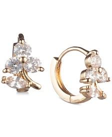 lonna & lilly Gold-Tone Crystal Hoop Earrings