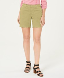 Style & Co Petite Released-Hem Chino Shorts, Created for Macy's