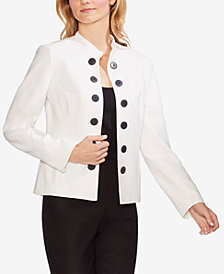 Vince Camuto Double-Button Crepé Jacket