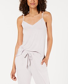 Josie By Natori Sweet Street Satin-Detail Camisole Pajama Top