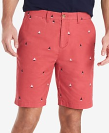 "Tommy Hilfiger Men's Regular-Fit Stretch Sailboat Critter 9"" Chino Shorts, Created for Macy's"