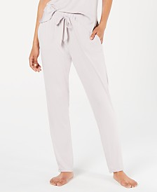 Josie By Natori Sweet Treat Satin-Detail Tapered Pajama Pants