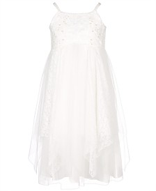 Bonnie Jean Big Girls Empire Waist Lace Dress