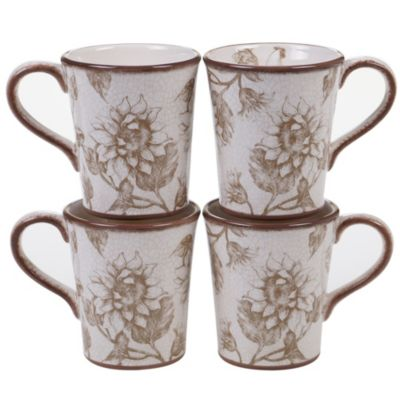 Toile Rooster 4-Pc. Mug