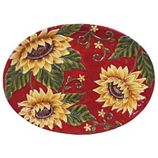 Sunset Sunflower Oval Platter