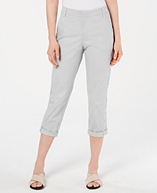 Eyelet-Trim Capri Pants, Created for Macy's