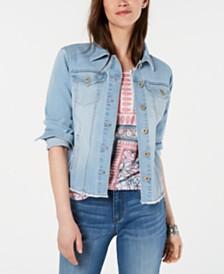 Style & Co Raw Hem Denim Jacket, Created for Macy's