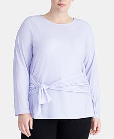 RACHEL Rachel Roy Trendy Plus Size Tie-Front Top