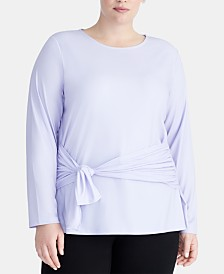 RACHEL Rachel Roy Trendy Plus Size Tie-Front Top