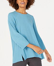Eileen Fisher Silk Bracelet-Sleeve Top