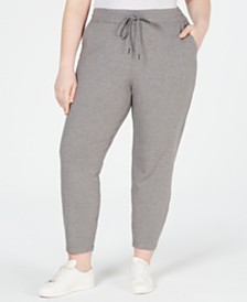 Eileen Fisher Plus Size Drawstring Ankle Pants