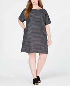 Eileen Fisher Plus Size Linen Dress