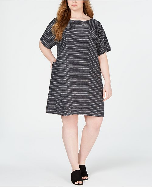 Eileen Fisher Plus Size Linen Dress