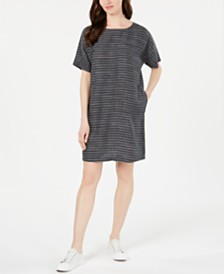 Eileen Fisher Organic Linen Tunic Dress, Regular & Petite