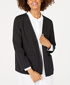Eileen Fisher Organic Cotton Bracelet-Sleeve Kimono Jacket