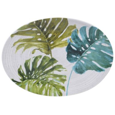 Palm Leaves Oval Platter