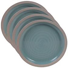 Artisan Teal 4-Pc. Dinner Plate