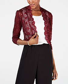 Scalloped Sequin Lace Bolero
